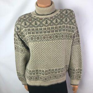 Woolrich jacquard knit turtleneck sweater Sz M
